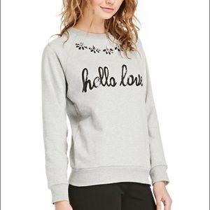 """Lovers + FRIENDS """"Hello Lover"""" Sweatshirt Size M"""